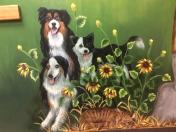 Dogs trio