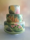 Cakes painted