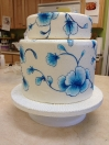 Cake - Blue vines