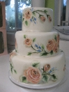 Cake - peach roses