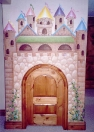 Castle playroom wood door