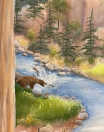 Bear at stream