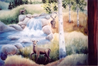 Forest deer river
