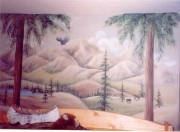 Forest over bed
