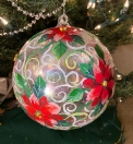 Poinsettia large ornament