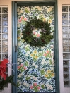 Floral door