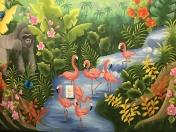 Jungl flamingos