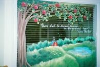 Windows - summer apple tree