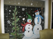 Windows - snowman couple