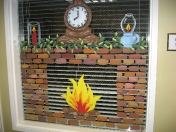 Windows - winter fireplace